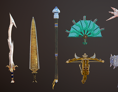 Weapons Modeling - Battle of Gods & Men