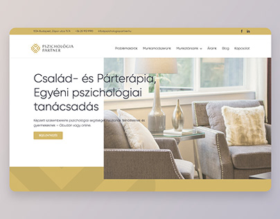 Pszichológia Partner – website build
