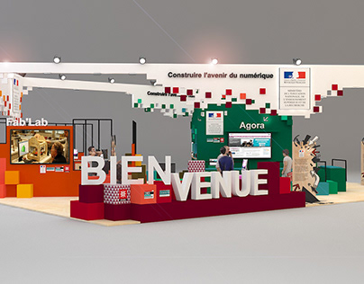 Stand Ministère de l'Education salon Educatec Paris