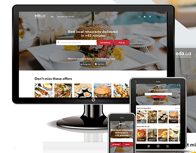 Responsive design of restaurant aggregator