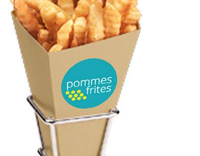 Pomme Frites Brand Packaging