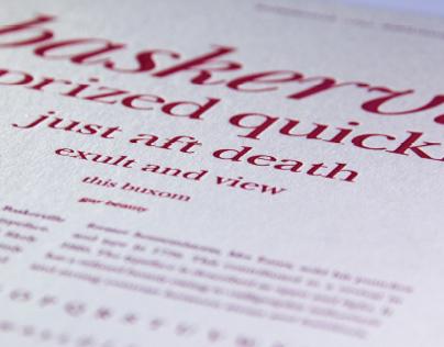 Typeface specimen student brief