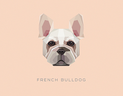 Geometric dogs vector illustrations