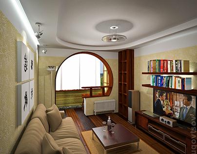 Interior design of small apartments in Odessa (2006)