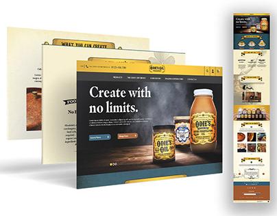 Odie's Oil Concept Web Design