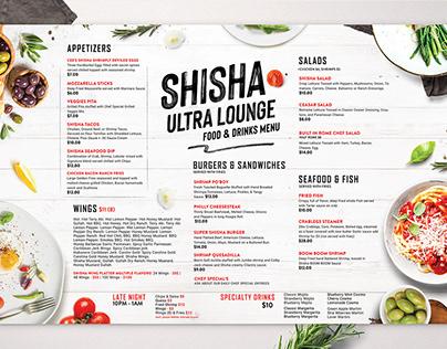 Restaurant food menu Minimal Design.