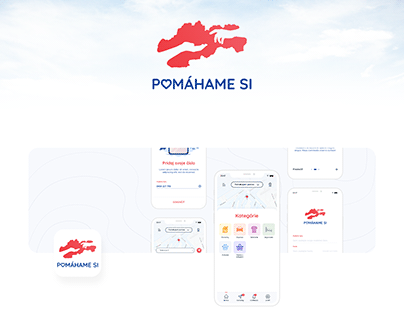 Pomahame.si - App design