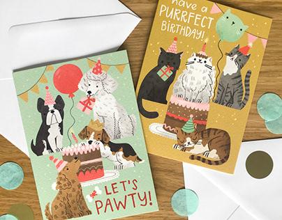 Birthday Cats & Dogs