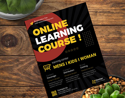 Online Learning Course Class Flyer