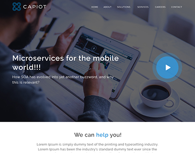 Capiot Website Redesign