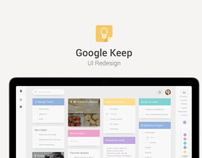 Google Keep Concept Design