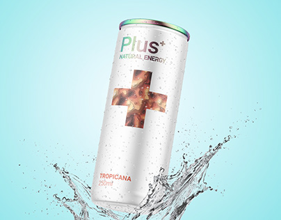 Plus Natural Energy Drink Packaging