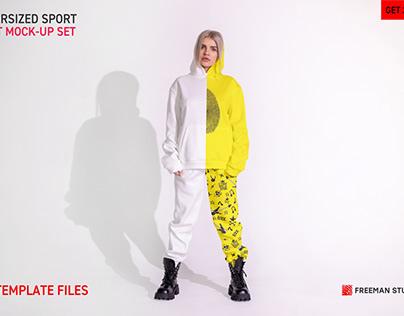 Oversized Sport Suit Mock-Up Set