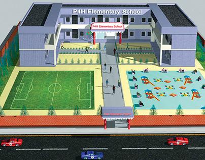 3D School Campus Design