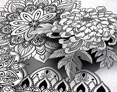Lion In Mandala Tattoo Sketch Ornamental Dotwork On Behance