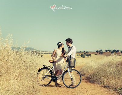 Paloma + Melchor. Un paseo en bici muy vintage