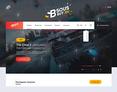 Sous-Buy.ru — Redesign Websitte Online games store