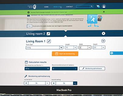 Heating Calculation Web-app