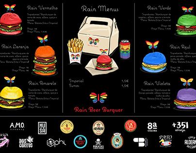 Rain Beer Burguer - LGBT Restaurant Identity project
