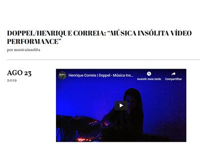 Música Insólita Vídeo Performance 2019