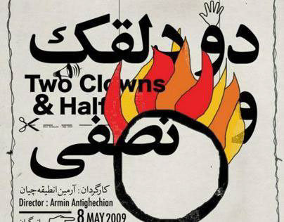 Two Clowns & Half, Theater poster