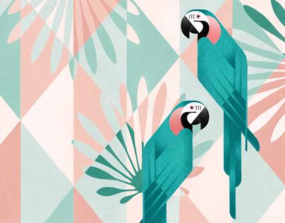 Geometric birds (Procreate-iPad Pro)
