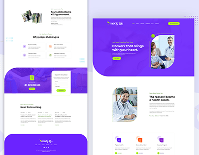 Health Care Landing Page Design