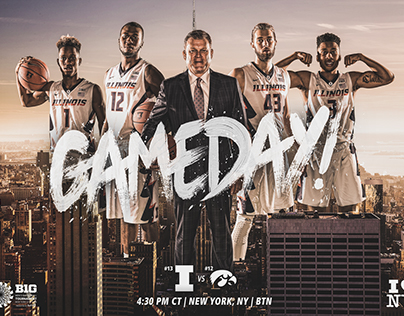 Illinois MBB: New York Gameday Graphic