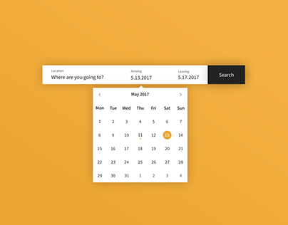 Daily UI | #080 | Date Picker