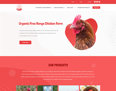 Ecommerce Website for Chicken Farm House