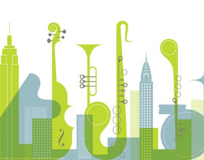 NYU 2012 Jazz Festival Poster