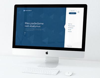 """""""ESAVADAI"""" internetinio puslapio dizainas"""