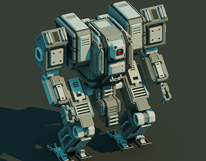 Mechwarrior - Voxel art w/ marching cubes
