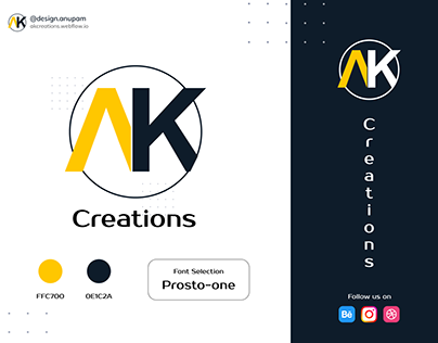 Logo Concept For AK Creations