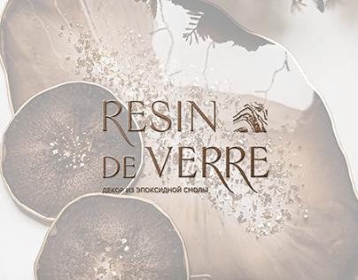 Логотип «RÉSIN DE VERRE» декор из эпоксидной смолы