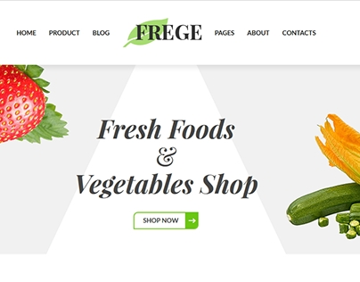 Frege Foods And Vegetables HTML Template