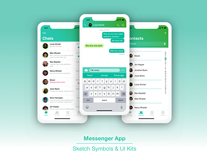 Messenger App Screens