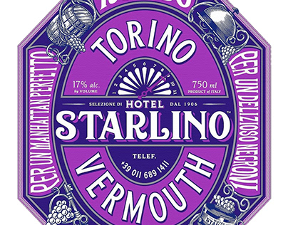 Hotel Starlino Packaging Illustrated by Steven Noble