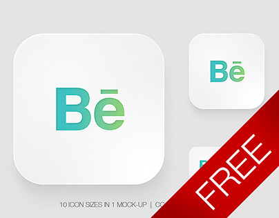 Free Icon App Mock-Up