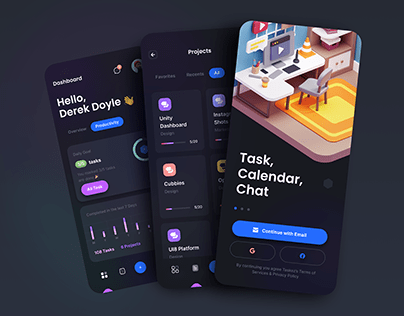 TaskEz: Productivity App iOS UI Kit