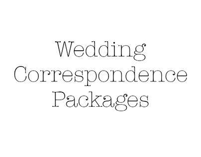 Wedding Correspondence Packages