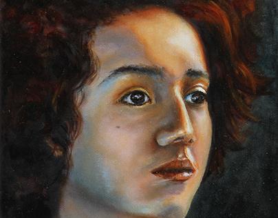 """""""Em.portrait."""" oil on canvas"""