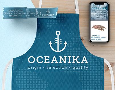 OCEANIKA · Branding · Comunicación · Packaging · Web