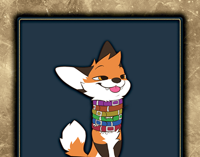 Furry Trading Card Templates