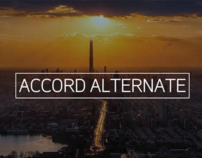 Accord Alternate Typeface