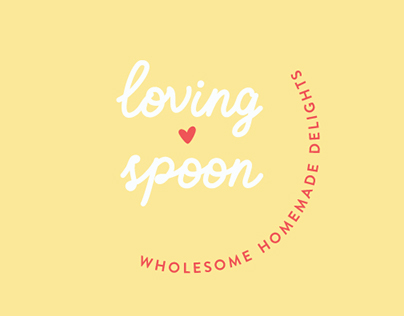 Loving Spoon – vegan catering brand identity