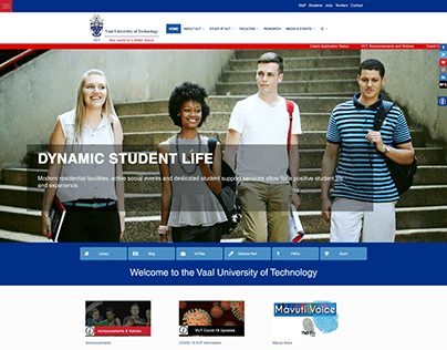 Vaal University of Technology Website Project
