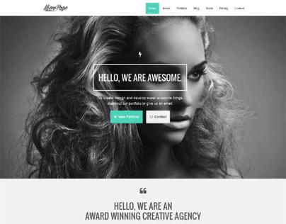 MicroPage, WordPress Responsive Versatile One Page
