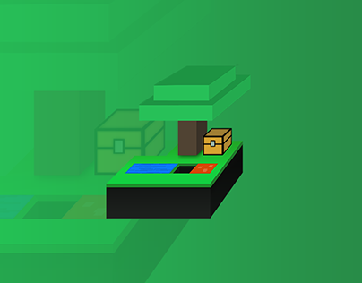 Vectorized Minecraft Island