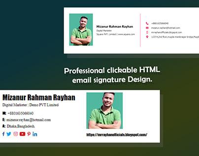 Professional Clickable Responsive HTML Email Signature